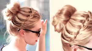 Image Coiffure Mariage Tresse Chignon Coiffure Cheveux Mi