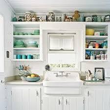 Modern Beach Cottage Kitchen Design With Natural Wood Plank Coastal Cottage Kitchen Ideas