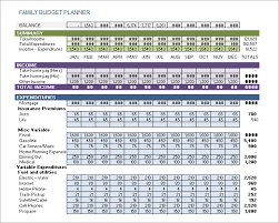 Household Budget Template Excel 2007 Sample Family Budget 10