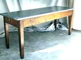 exotic zinc top table astonishing zinc top table round zinc top side table
