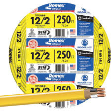 Southwire 250 Ft 12 2 Landscape Lighting Cable Romex 250 Ft 12 2 Solid Yellow Nmw G Wire Jerrys Do It