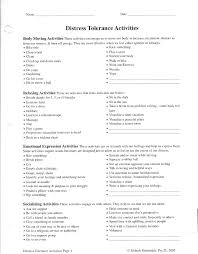 Best Solutions Of Distress Tolerance Skills Worksheets About