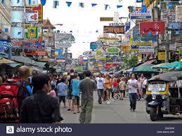 San Photo Stock Backpackers' Street In Infamous Bangkok Alamy Road - Thailand Khao 65133908