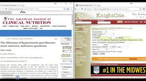 Cite Online Scholarly Journal In Apa With Knightcite