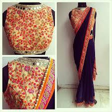 Simple Saree With Heavy Designer Blouse Plain Saree Designer Blouse Online Rldm