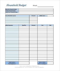 Free Family Budget Template Easy Home Worksheet Excel Google
