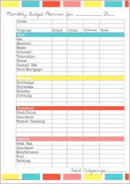 Monthly Budget Sheet Template Personal Monthly Budget