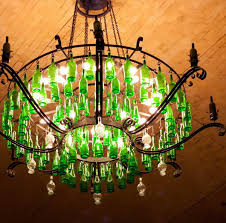 16 wine bottle chandelier banfi