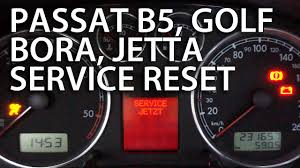 How To Reset Service Light On Vw Passat 1999 How To Reset Service Reminder Vw Passat B5 Golf Bora Jetta Mk4 1 9tdi Oil Inspection