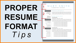 Best Resume Format 2018 Template Download Proper Resume Format Haadyaooverbayresort Within Resume 14