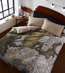 details about map european atlas print brown beige reversible map european atlas print brown beige reversible duvet quilt cover bedding set catherinelansfield contemporary
