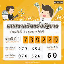 MThai - ผลสลากกินแบ่งรัฐบาล งวด 16 เมษายน 2561 รางวัลที่...