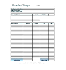 Easy Monthly Budget Template Monthly Household Budget Template