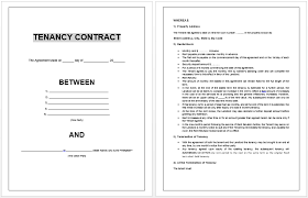 sample rental agreement letter tenancy contract template microsoft word templates