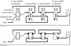 dimmer with 3 and 4 way lighting wiring diagram