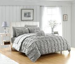 pintuck bedding chic home 4 piece duvet cover set reversible geometric print pleated bedding grey grey pintuck bedding