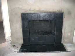 black tile fireplace black slate tile face fireplace and hearth rh egardeningtips info