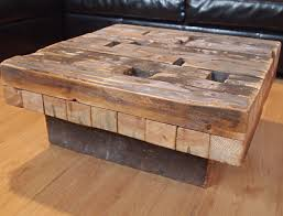 square reclaimed wood coffee tables