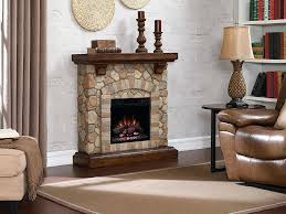 electric fireplace with stone stone electric fireplace mantel package in old world brown uniflame electric fireplace electric fireplace with stone
