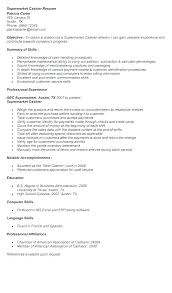 Supermarket Cashier Resume Magnificent Resume Examples Cashier Resume Objective Cashier Example Resume