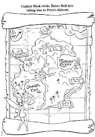 Tinkerbell Treasure Map Coloring Pages Coloring Home