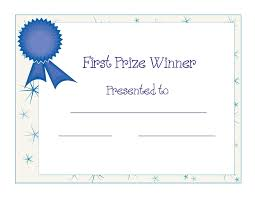 Printable Awards And Certificates Free Printable Award Certificate Template Free Printable First