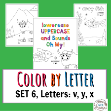 Home > puzzles and games > free printable color by number coloring pages. Worksheets For Kindergarten And Preschool Color By Letter Coloring Pages Set 6 Letters V Y X How Wee Learn