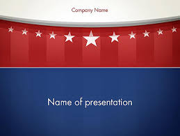 American Flag Stylized Background Powerpoint Template