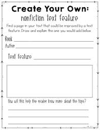 Text Features Anchor Chart Pdf Free Nonfiction Text Features Graphic Organizers