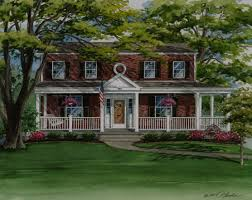 house plans with balconies on roof beautiful red brick two story house with front porch new