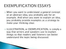Sample Exemplification Essay Examples Of Exemplification Essay How To Write An Exemplification