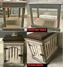 How to make a dog crate Table Having Four Dogs Of My Own This Project Is One That Ive Always Wanted To Try While None Of Mine Need To Be Put In Crate Anymore Still Goodwill Akron Diy Dog Crate End Table Goodwillakronorg Goodwillakronorg