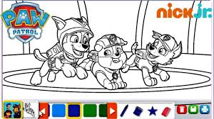 Print Paw Patrol Rocky And Marshall Colorings Singular Coloring Page