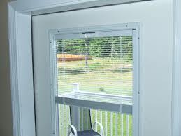 french door blinds between glass