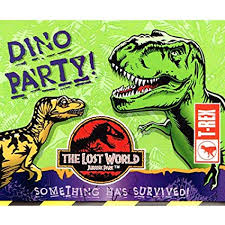 Jurassic Park Invitations Amazon Com Jurassic Park Lost World Invitations W