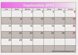 Calendario Septiembre 2015 Para Imprimir Calendario 2015 Para