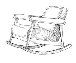 rocking chair sketch. Wonderful Sketch Rocking Chair Isolated On White Background Sketch A Comfortable Chair  Stock Vector  94649568 In Chair O