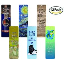 Creanoso Awesome Bookmarks 12 Pack Inspirational Bookmarks For