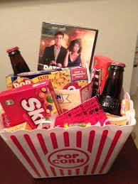 Film themed basket  it could be customized to each and every recipient  with a diverse film