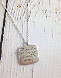 handmade sterling silver necklace with maya angelou be present e