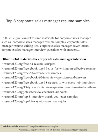 Sales Manager Resume Examples top100corporatesalesmanagerresumesamples100conversiongate100thumbnail100jpgcb=11002100675073 100