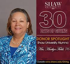 Shaw University - Thank you to #ShawU alumna, Mrs. Marilyn... | Facebook