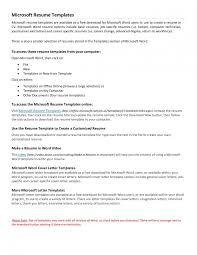 Microsoft Word Resume Template Saneme