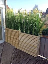 deck screens outdoor privacy screen ideas for decks planters planter skinny grasses give it height edmonton