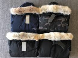 Designer Fur Jacket Men 2019 Wolf Fur Men Designer Winter Jacket Goose Mens Chatea Parka Down Jacket Long Parka Puffer Coats Warm Overcoat Jaqueta Red Black Label E06 From