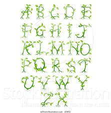 vector illustration of green vine alphabet letters a through z by atstockillustration 3862