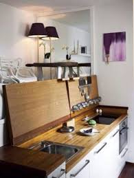 Small Picture Chic Compact kitchen for a small space a great idea for a studio