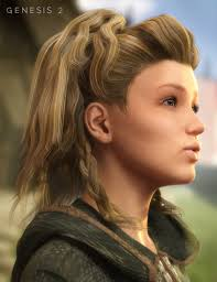 Viking Hairstyle Female viking hair for genesis 1 and 2 females 3d models and 3d 7020 by wearticles.com