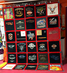 Quilts 'N Kaboodle Queen Size Harley Davidson T-shirt Quilt ... & Queen Size Harley Davidson T-shirt Quilt Adamdwight.com