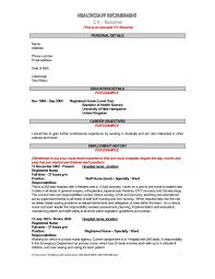 Registered Nurse Sample Job Description Cv For Hotel Manager